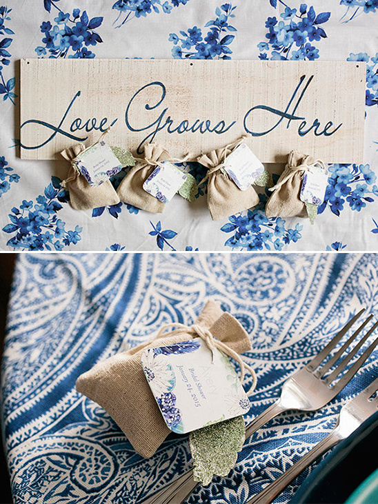 love grows here favor bags @weddingchicks