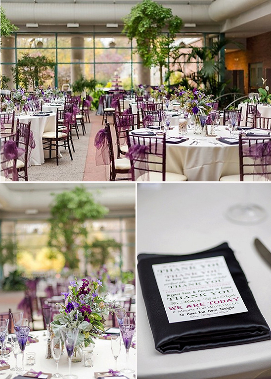 purple wedding reception @weddingcicks