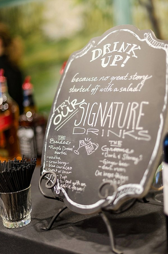 chalkboard bar menu @weddingchicks