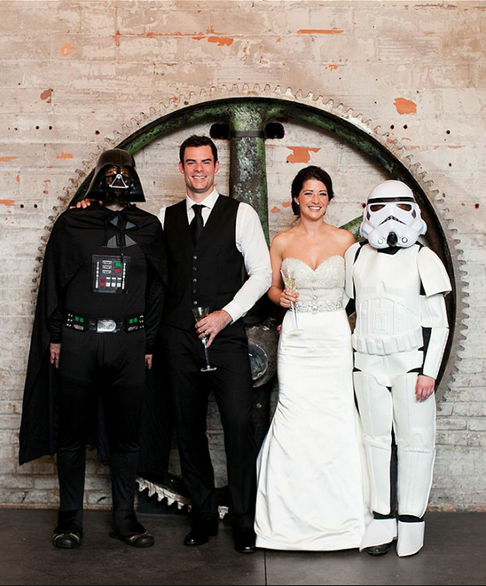 Star Wars wedding guests @weddingchicks