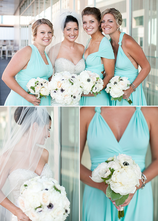 twist wrap bridesmaid dresses @weddingchicks