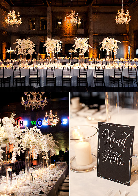 black and white reception ideas @weddingchicks