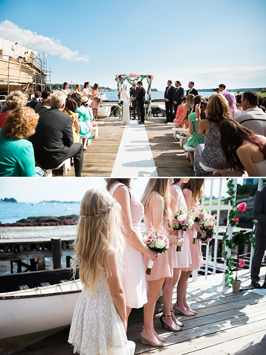 Boothbay Harbor Shipyard wedding ceremony @weddingchicks