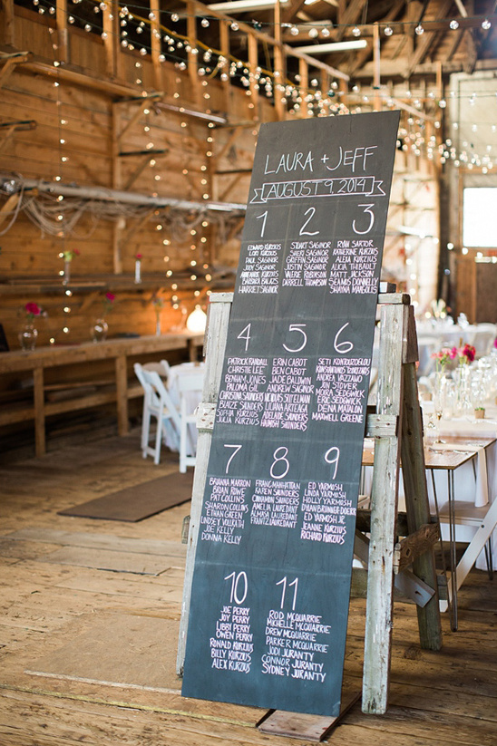 chalkboard seating assignment @weddingchicks