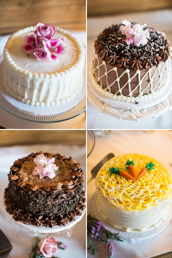 assorted wedding cake options @weddingchicks