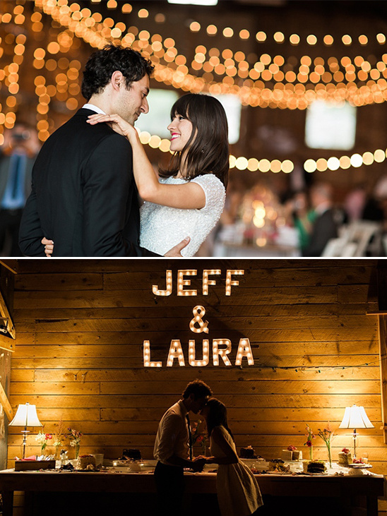 wedding dance and marquee lights @weddingchicks