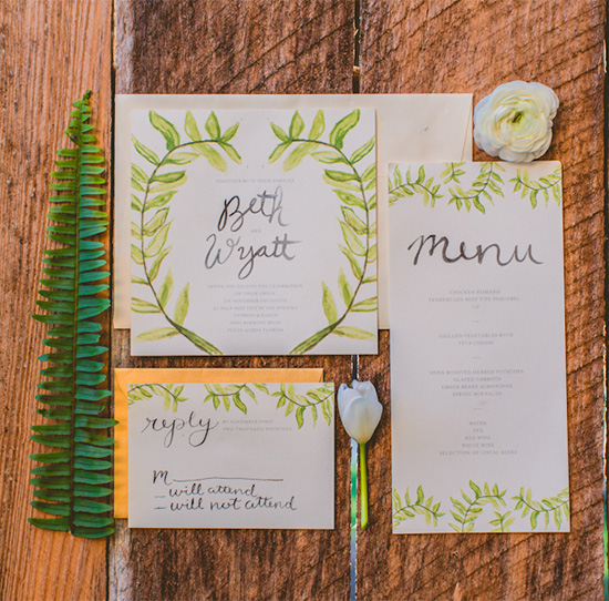 forest inspired wedding invitation @weddingchicks