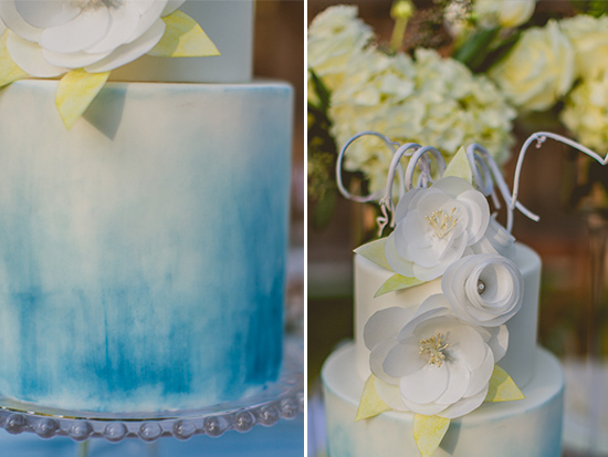 ombre wedding cake @weddingchicks