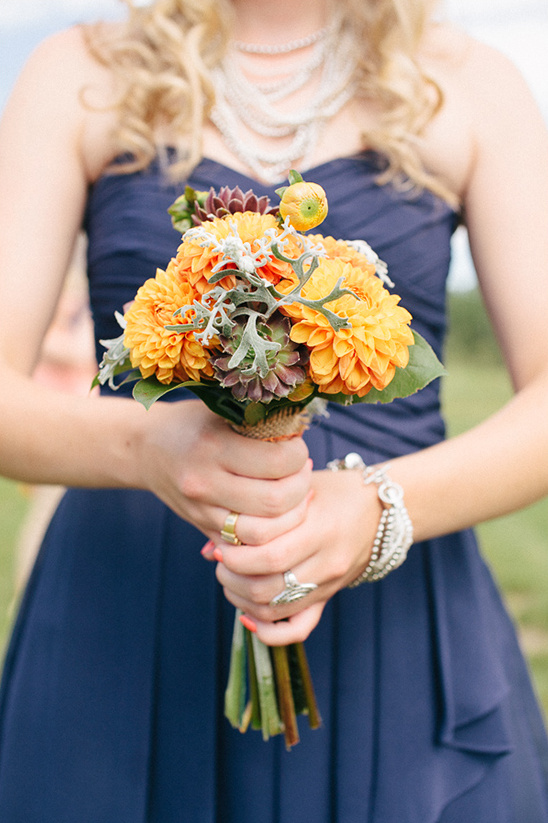 Nebraska Navy and Orange Wedding