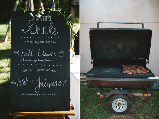 signature drinks and mobile barbecue @weddingchicks
