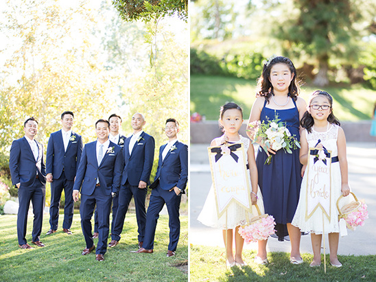 navy and white groomsmen and flower girls @weddingchicks