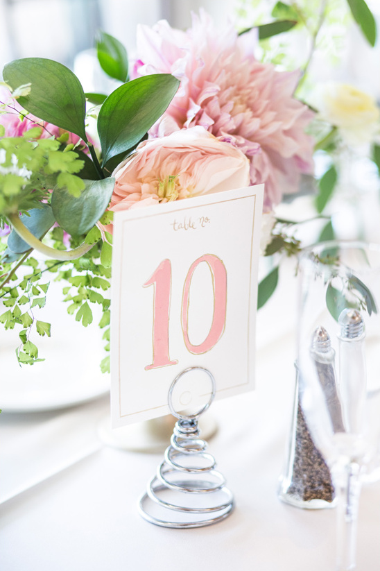 cute watercolor table numbers @weddingchicks