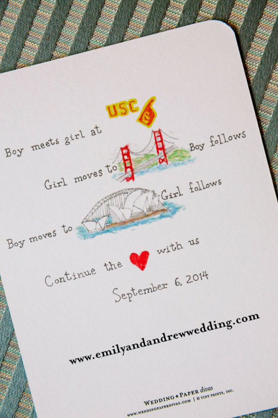 cute customized wedding stationery from The Wedding Paper Divas @weddingchicks