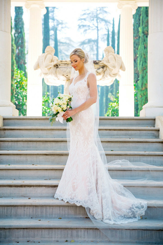 classic lace overlay wedding dress @weddingchicks