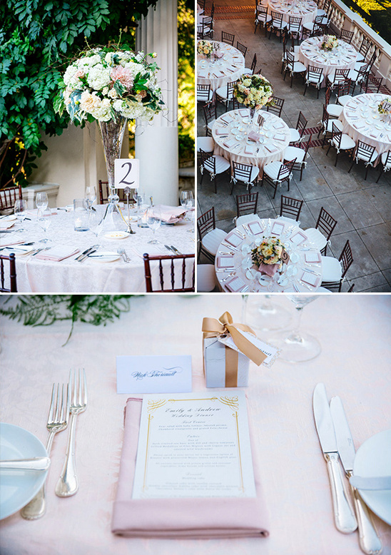 formal pink and gold reception @weddingchicks