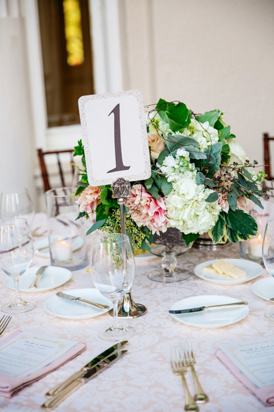 silver stand table number @weddingchicks
