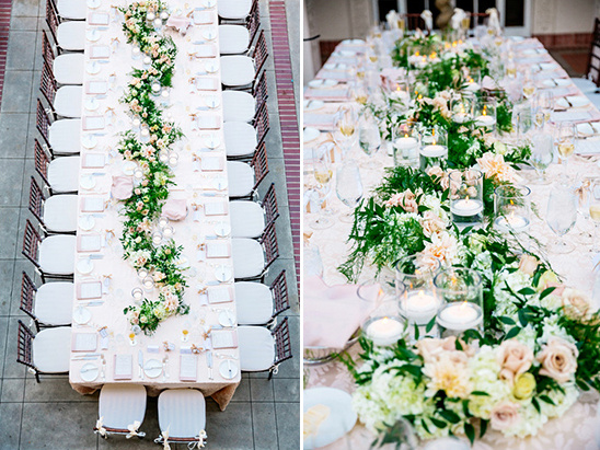 floral garland centerpiece @weddingchicks