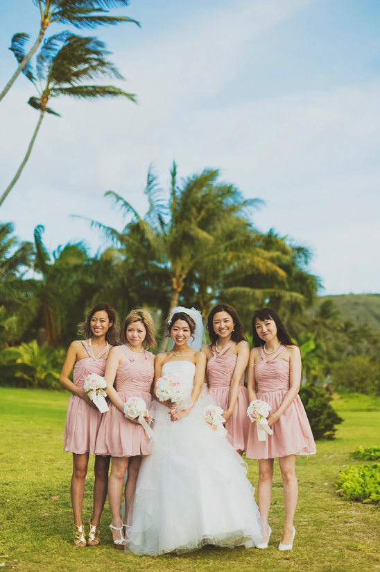 pink bridesmaides @weddingchicks