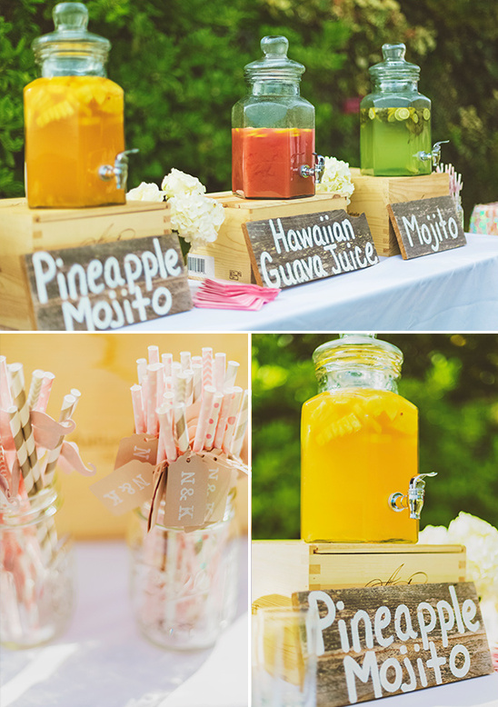 tasty wedding drink station @weddingchicks