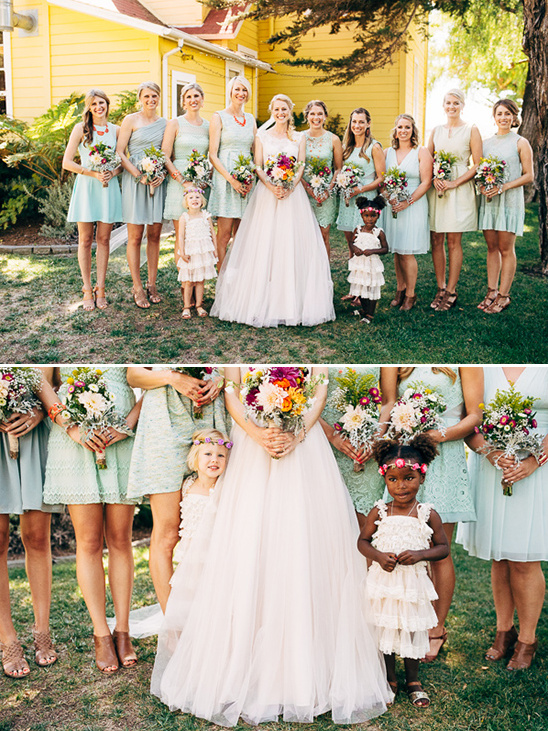 bridesmaids and flower girls @weddingchicks