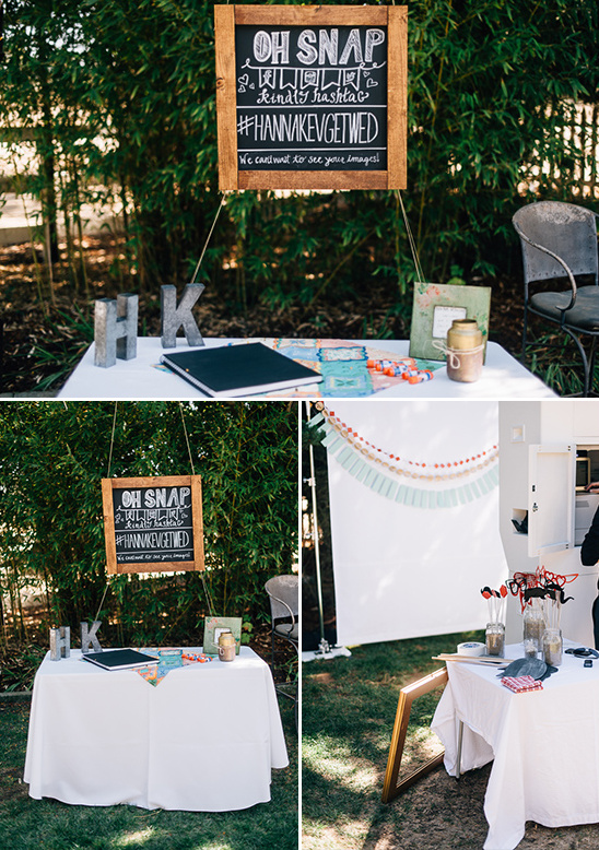 photo booth sign and props @weddingchicks