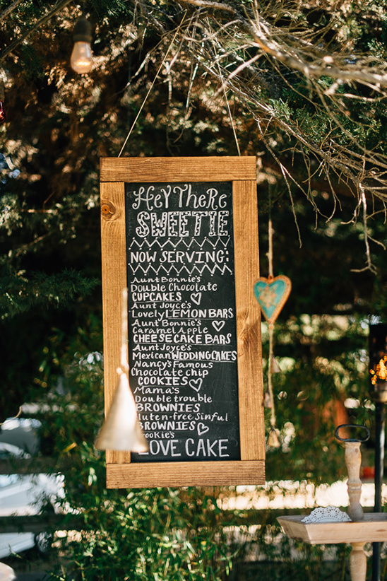 Dessert menu chalk board @weddingchicks