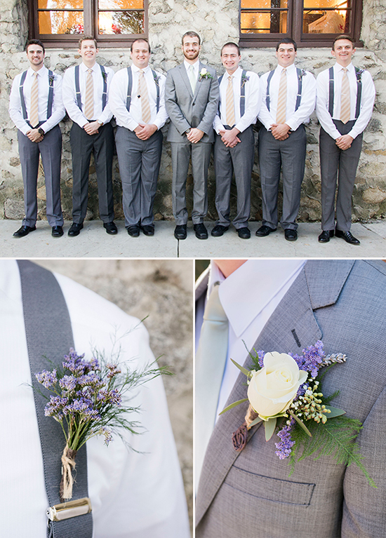 gray and purple groomsman @weddingchicks