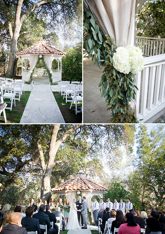 gazebo wedding hydrangeas @weddingchicks
