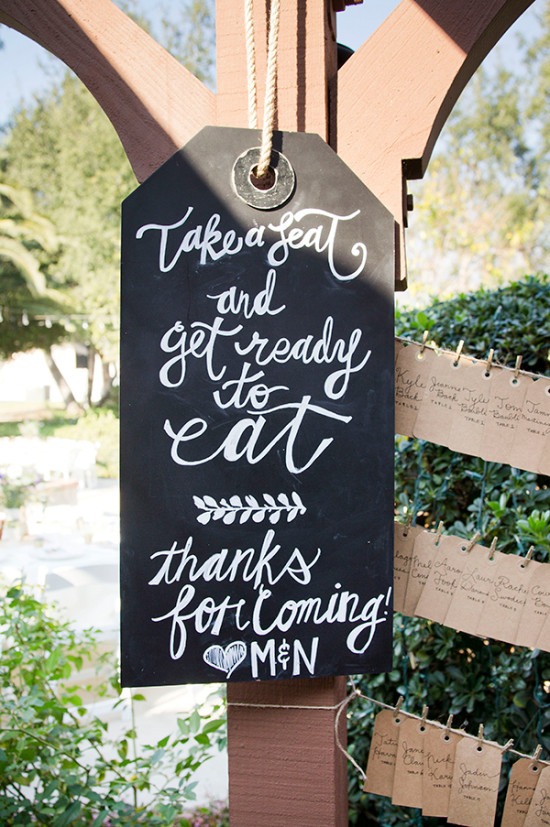 giant label chalkboard sign @weddingchicks