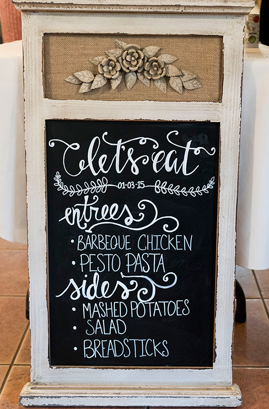 Menu chalk board @weddingchicks