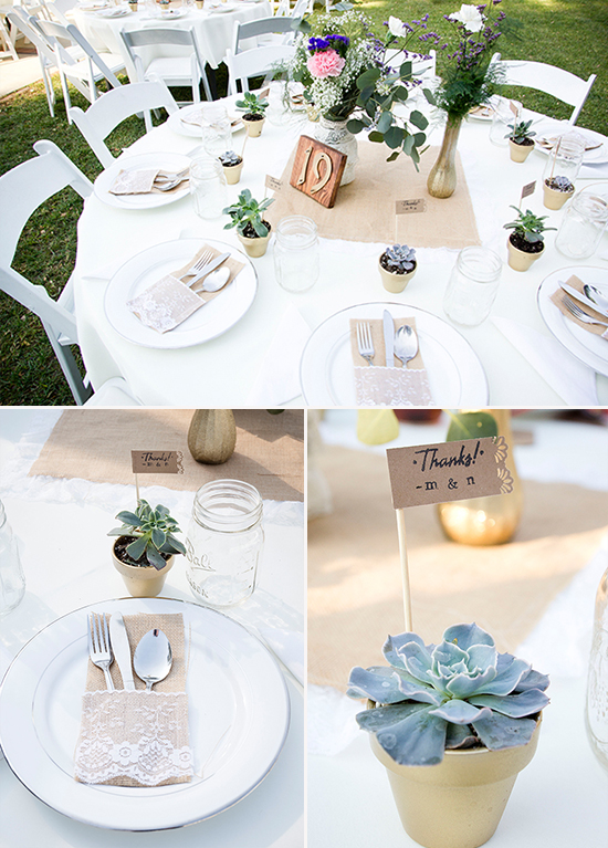rustic diy wedding reception ideas @weddingchicks