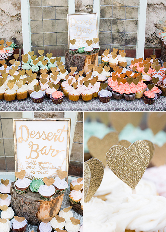 DIY cupckae table @weddingchicks
