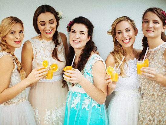 intimate little bridal party @weddingchicks