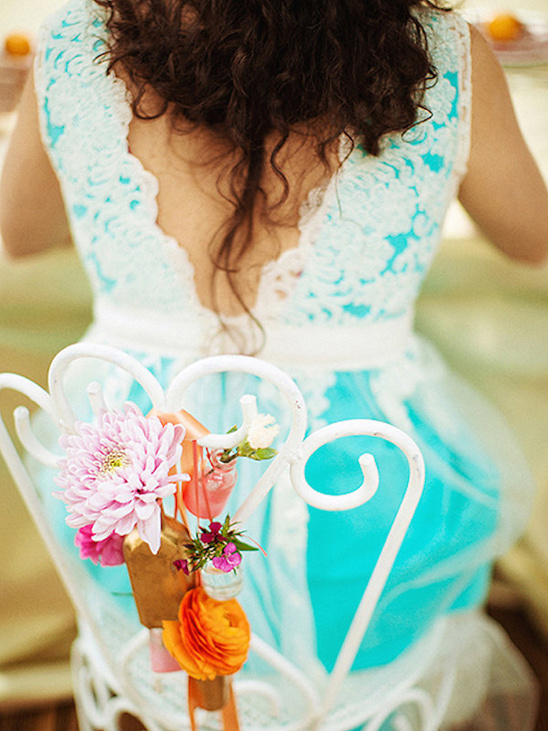 cute bride to bes flower accented seat @weddingchicks