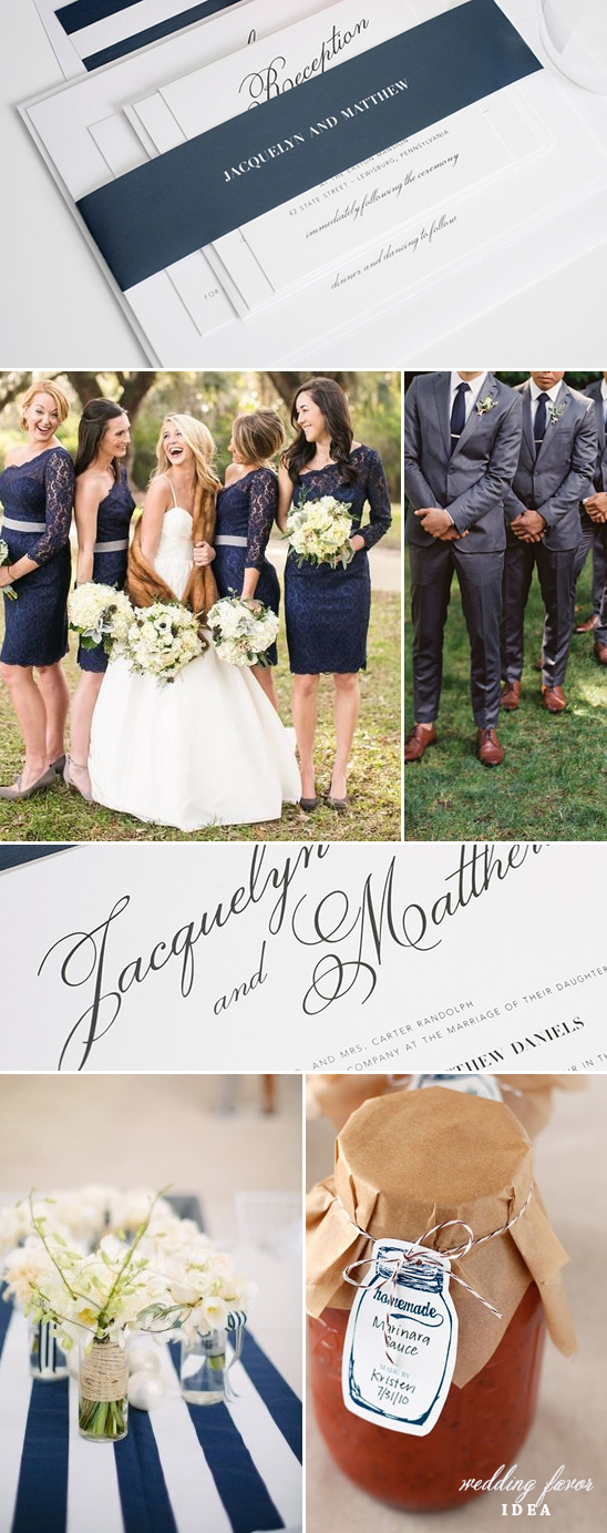 Navy wedding ideas @weddingchicks