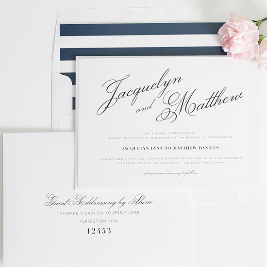 navy blue wedding invites @weddingchicks
