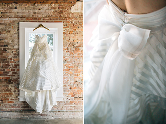 striped Hayley Paige wedding dress @weddingchicks