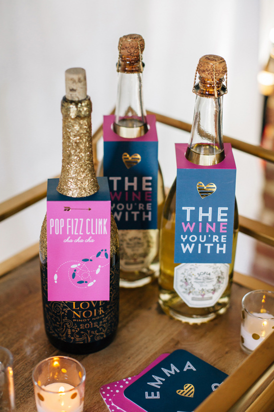 dress up your bubbly with cute bottle tags @weddingchicks