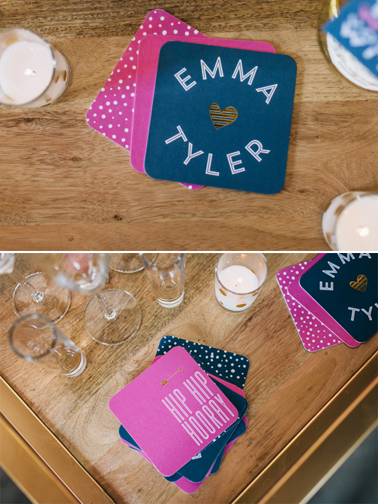 custom coasters @weddingchicks