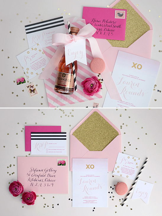 pink and gold bridal shower @weddingchicks