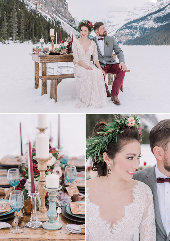 rustic indie winter wedding @weddingchicks