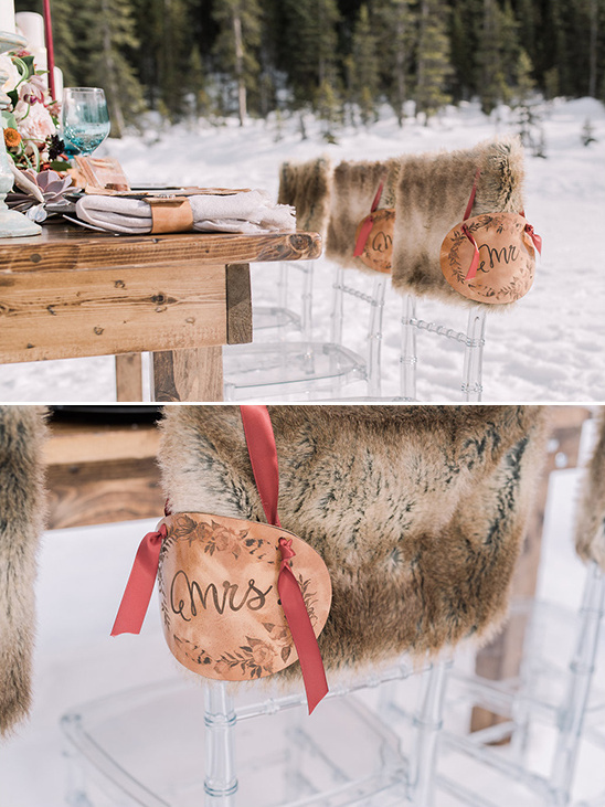 fur covered wedding seats @weddingchicks