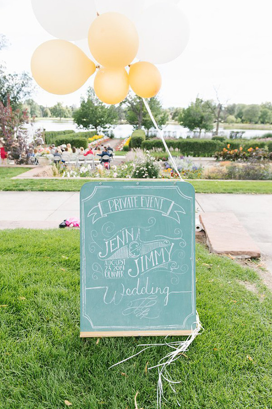 green chalkboard wedding sign @weddingchicks
