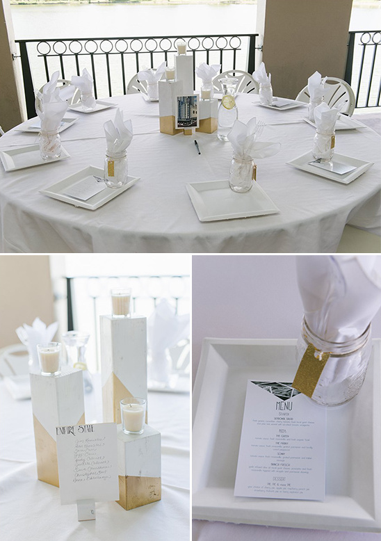 geometric reception decor ideas @weddingchicks