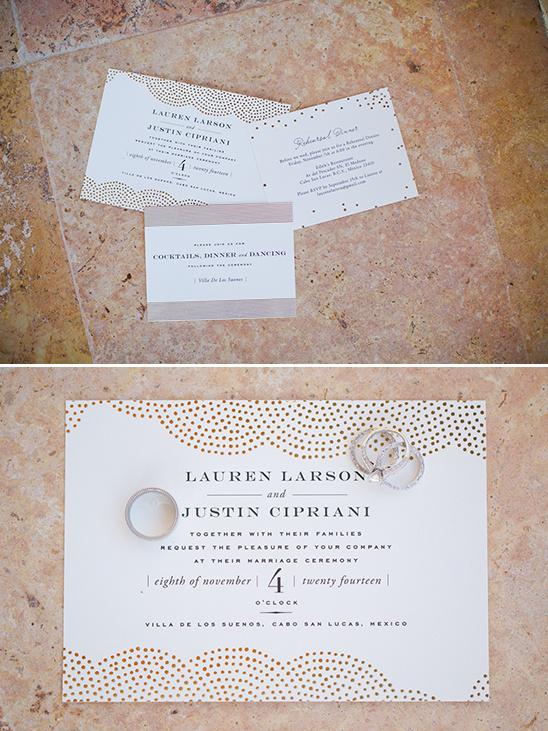 cream and gold classy wedding invites @weddingchicks