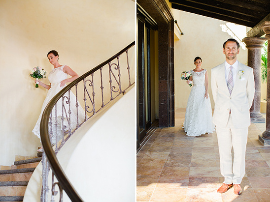 staircase descent first look @weddingchicks