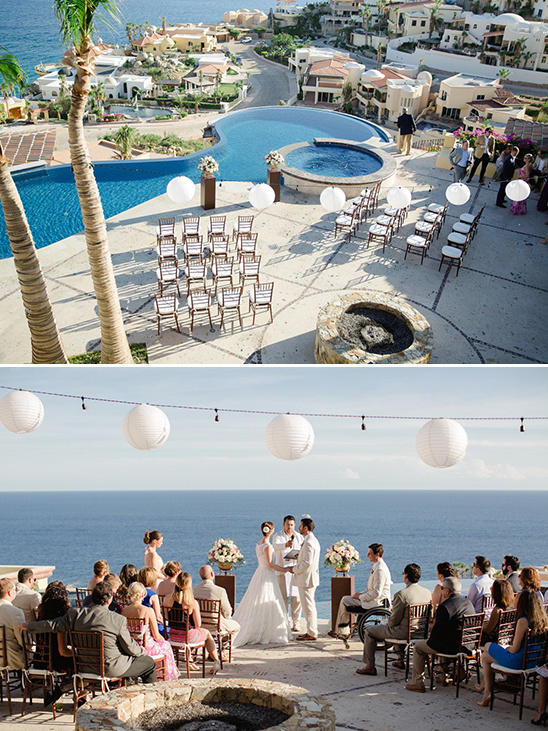 poolside and oceanside wedding ceremony @weddingchicks