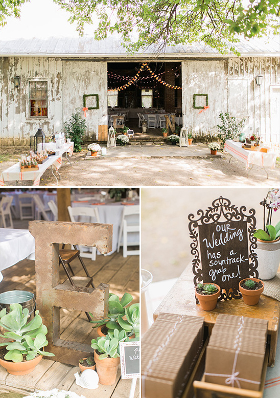 shabby chic barn reception @weddingchicks