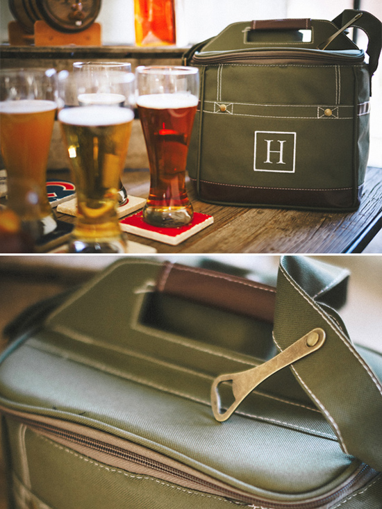 canvas beer carrying case @weddingchicks