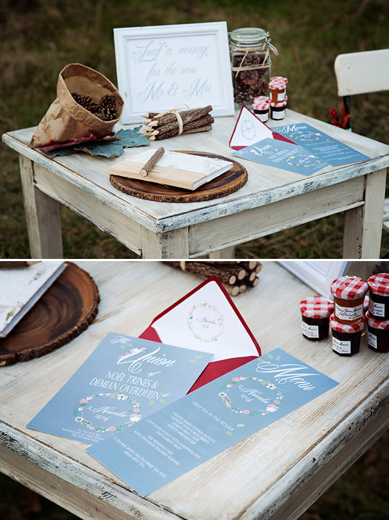 nature inspired wedding stationery @weddingchicks